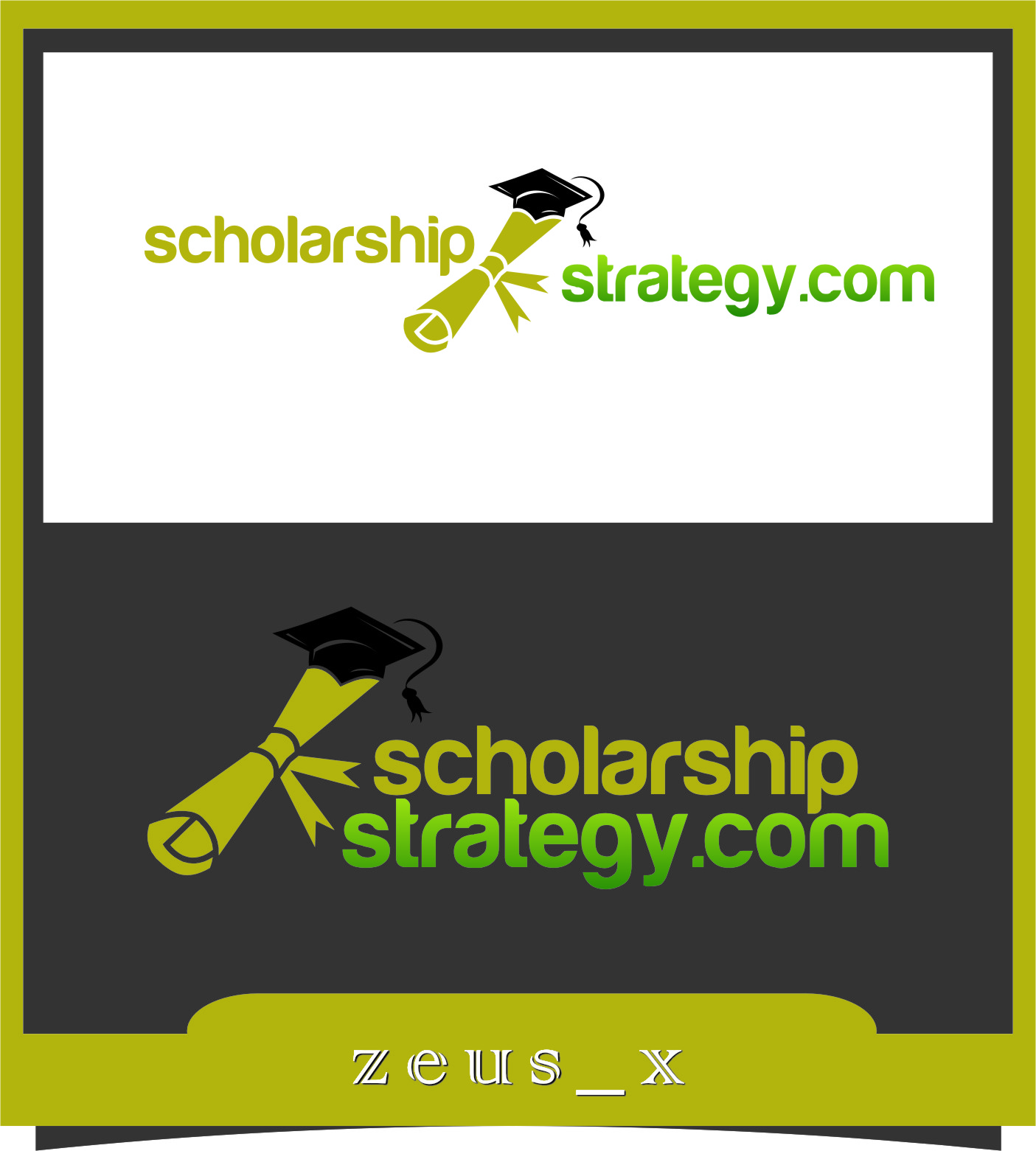 Logo Design by RasYa Muhammad Athaya - Entry No. 38 in the Logo Design Contest Captivating Logo Design for Scholarshipstrategy.com.