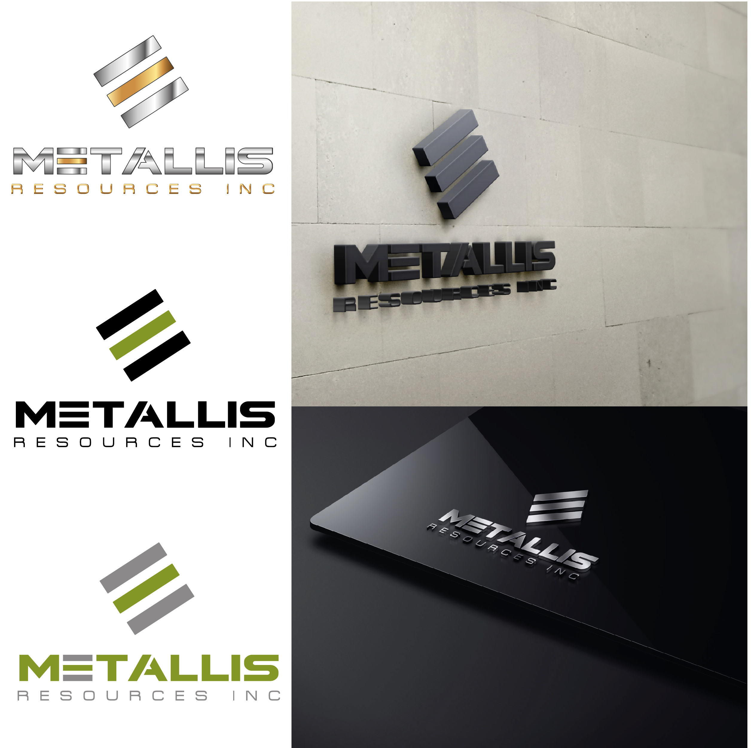 Logo Design by VENTSISLAV KOVACHEV - Entry No. 159 in the Logo Design Contest Metallis Resources Inc Logo Design.