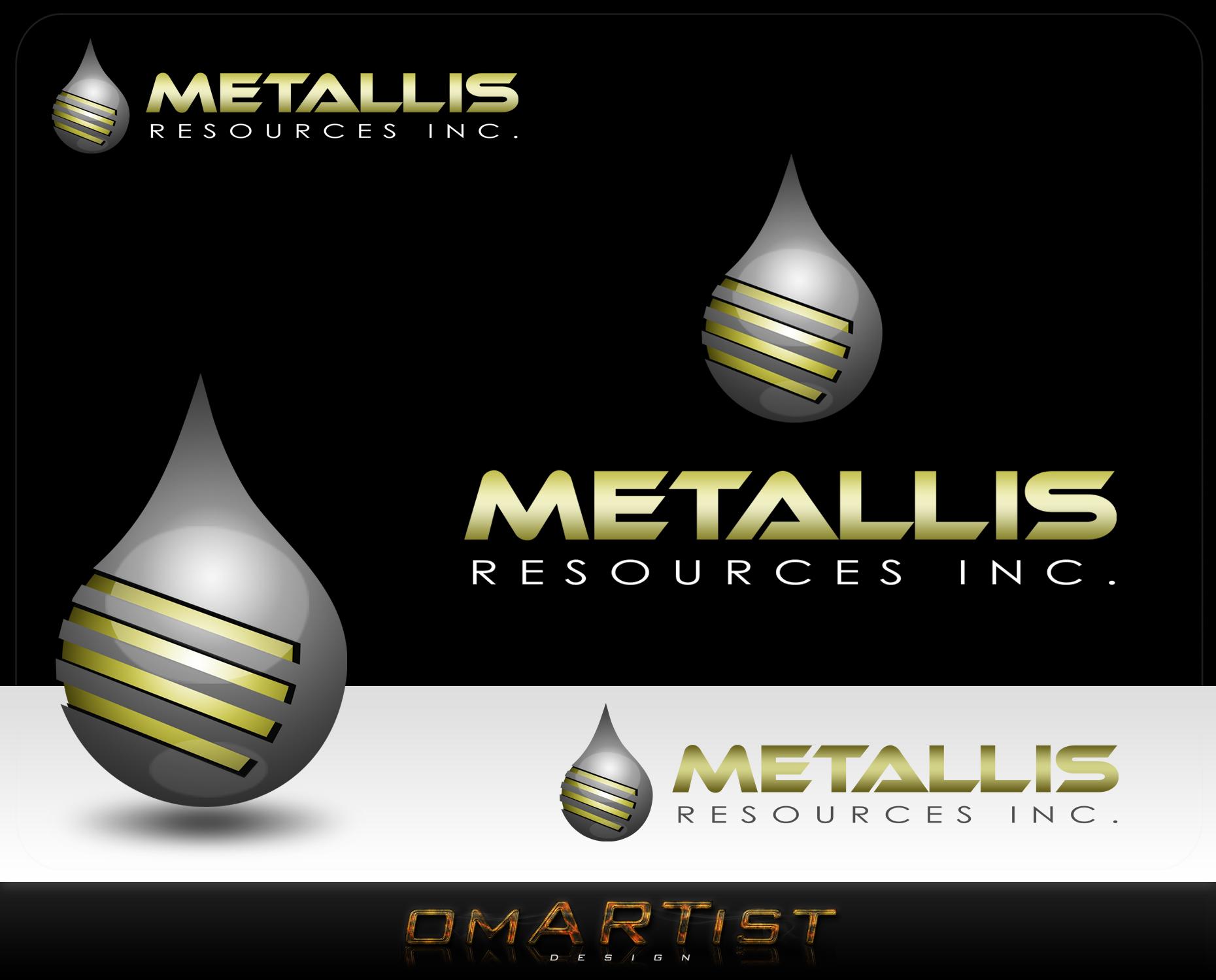 Logo Design by omARTist - Entry No. 161 in the Logo Design Contest Metallis Resources Inc Logo Design.