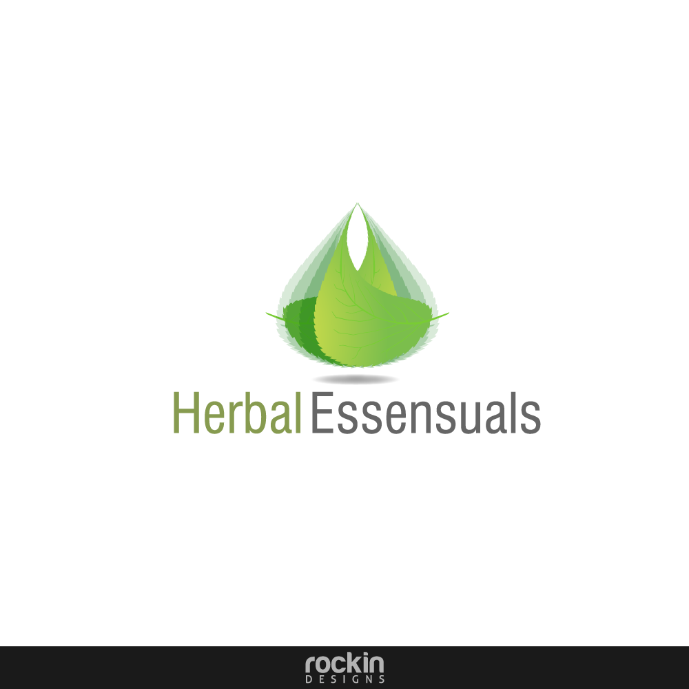 Logo Design by rockin - Entry No. 37 in the Logo Design Contest Captivating Logo Design for Herbal Essensuals.