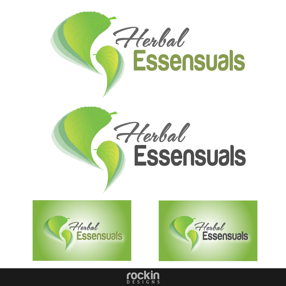 Logo Design by rockin - Entry No. 43 in the Logo Design Contest Captivating Logo Design for Herbal Essensuals.