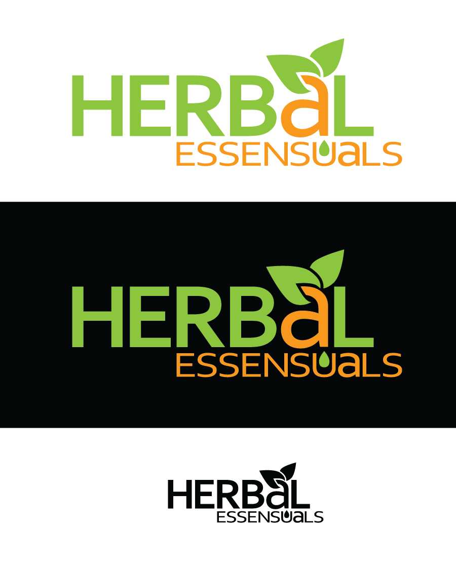 Logo Design by Christina Evans - Entry No. 54 in the Logo Design Contest Captivating Logo Design for Herbal Essensuals.