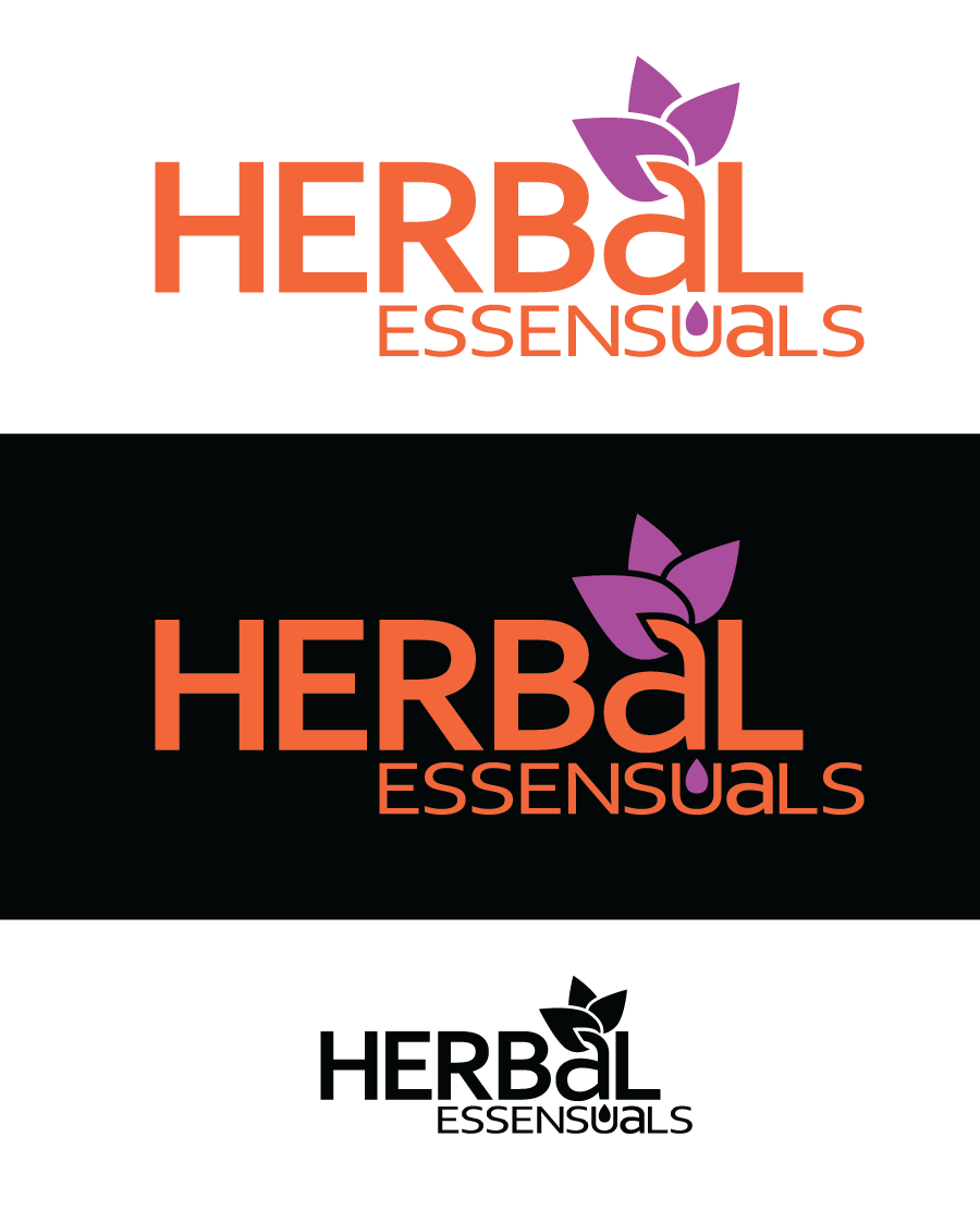 Logo Design by Christina Evans - Entry No. 55 in the Logo Design Contest Captivating Logo Design for Herbal Essensuals.