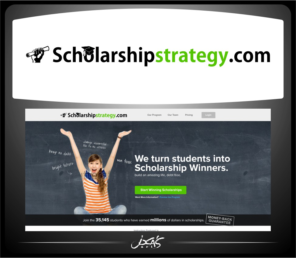Logo Design by joca - Entry No. 98 in the Logo Design Contest Captivating Logo Design for Scholarshipstrategy.com.