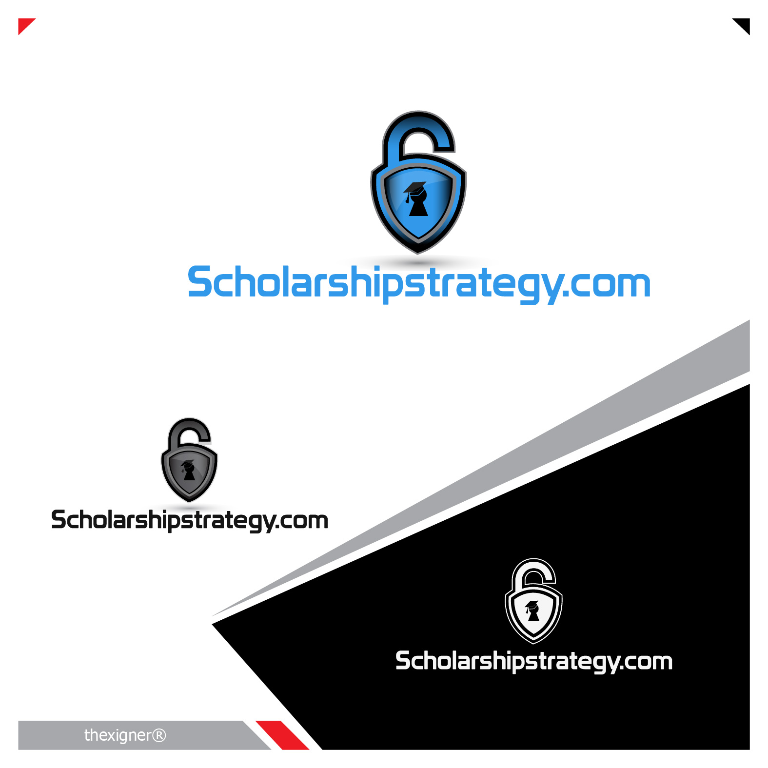 Logo Design by lagalag - Entry No. 101 in the Logo Design Contest Captivating Logo Design for Scholarshipstrategy.com.