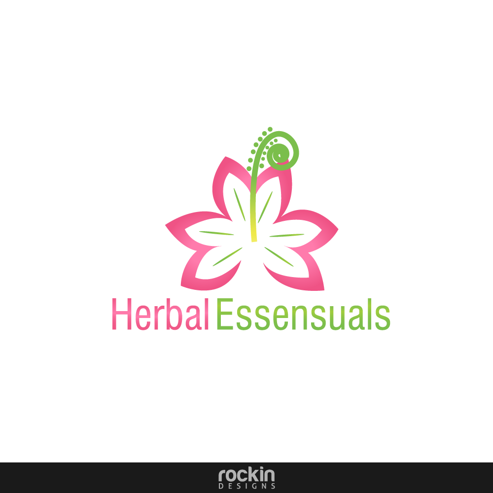 Logo Design by rockin - Entry No. 71 in the Logo Design Contest Captivating Logo Design for Herbal Essensuals.
