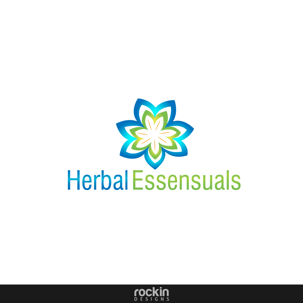 Logo Design by rockin - Entry No. 72 in the Logo Design Contest Captivating Logo Design for Herbal Essensuals.