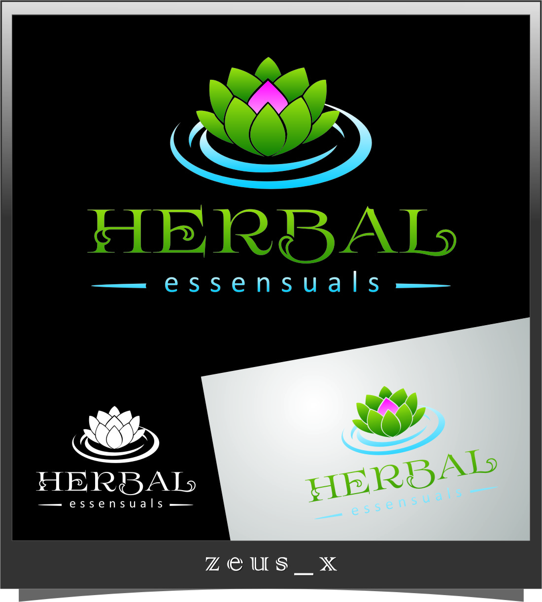 Logo Design by RasYa Muhammad Athaya - Entry No. 92 in the Logo Design Contest Captivating Logo Design for Herbal Essensuals.