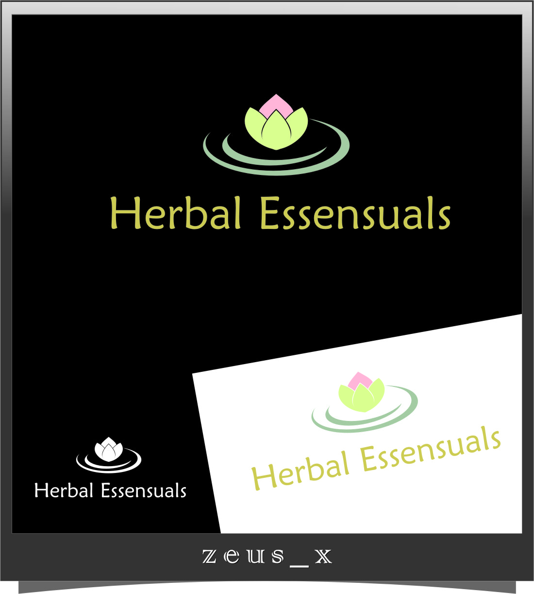 Logo Design by RoSyid Rono-Rene On Java - Entry No. 99 in the Logo Design Contest Captivating Logo Design for Herbal Essensuals.