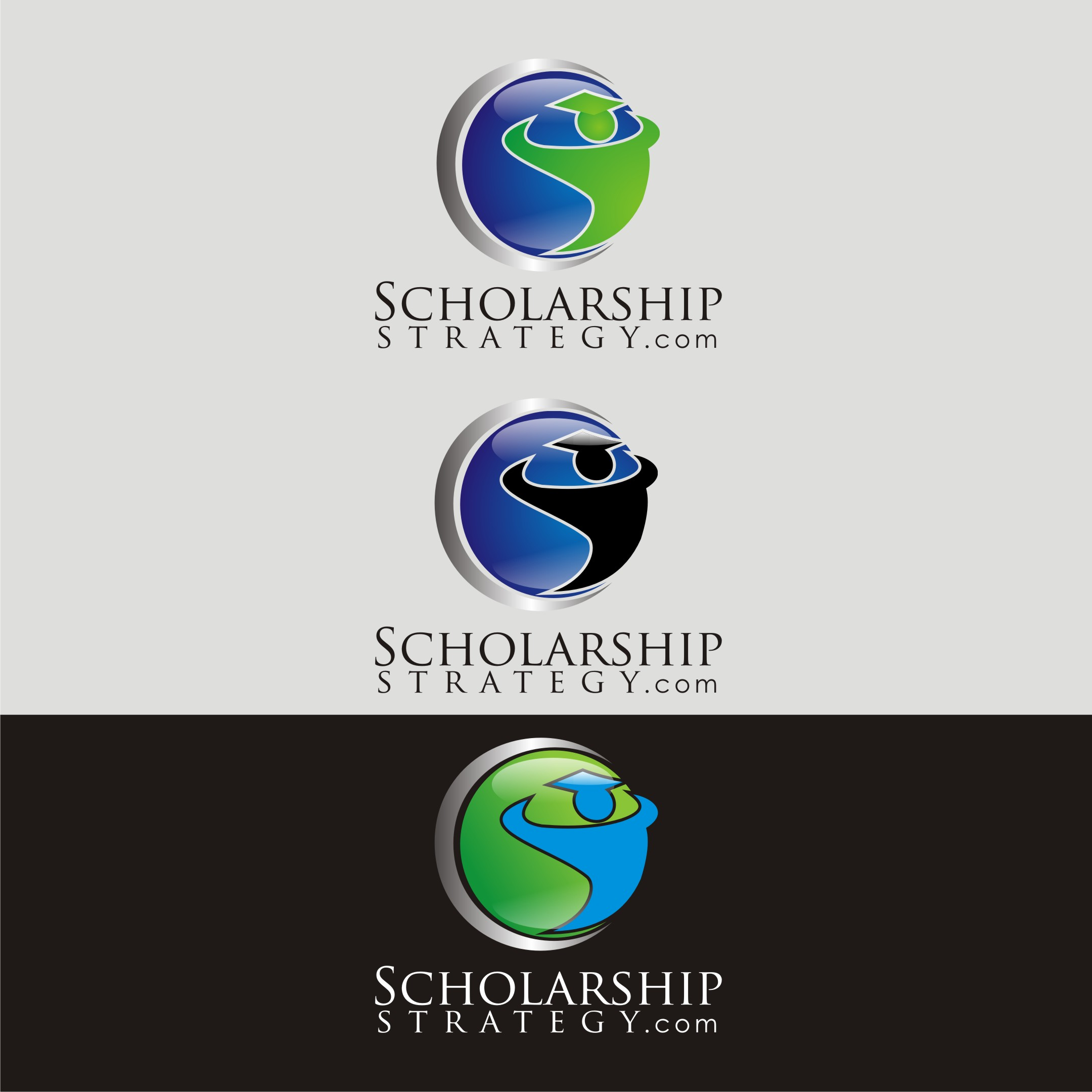 Logo Design by Rock n Rool - Entry No. 148 in the Logo Design Contest Captivating Logo Design for Scholarshipstrategy.com.