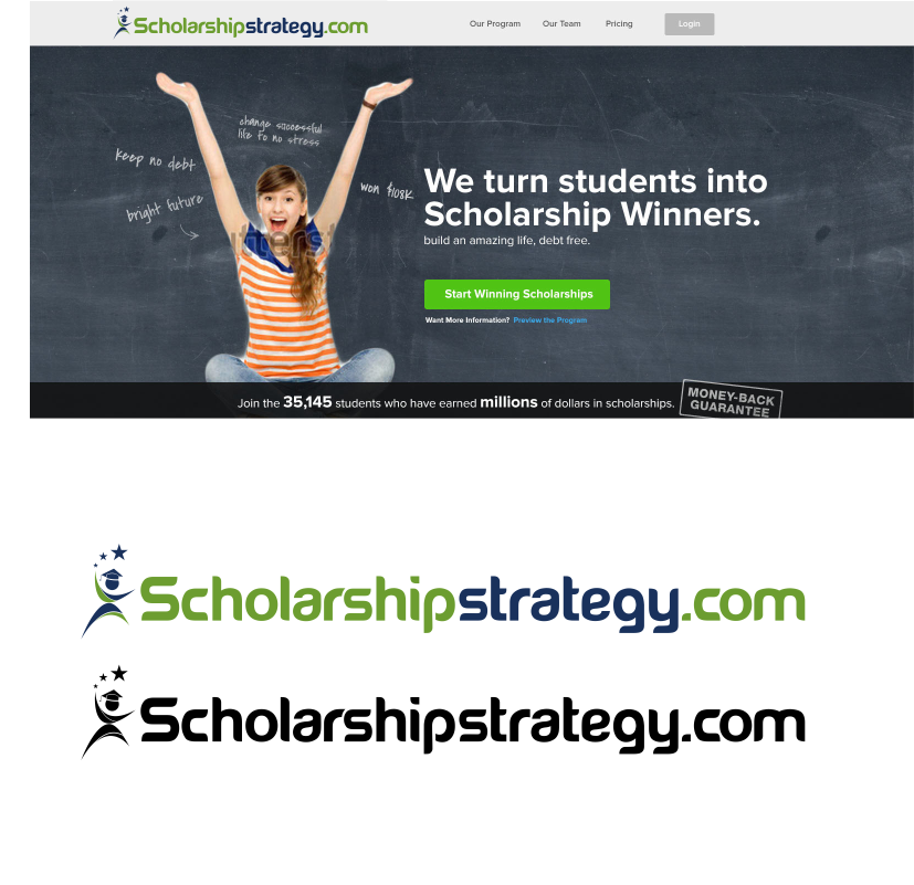 Logo Design by moisesf - Entry No. 187 in the Logo Design Contest Captivating Logo Design for Scholarshipstrategy.com.