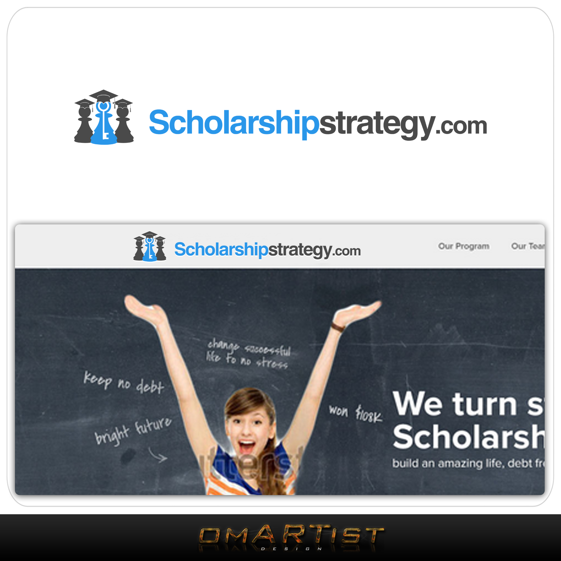 Logo Design by omARTist - Entry No. 189 in the Logo Design Contest Captivating Logo Design for Scholarshipstrategy.com.