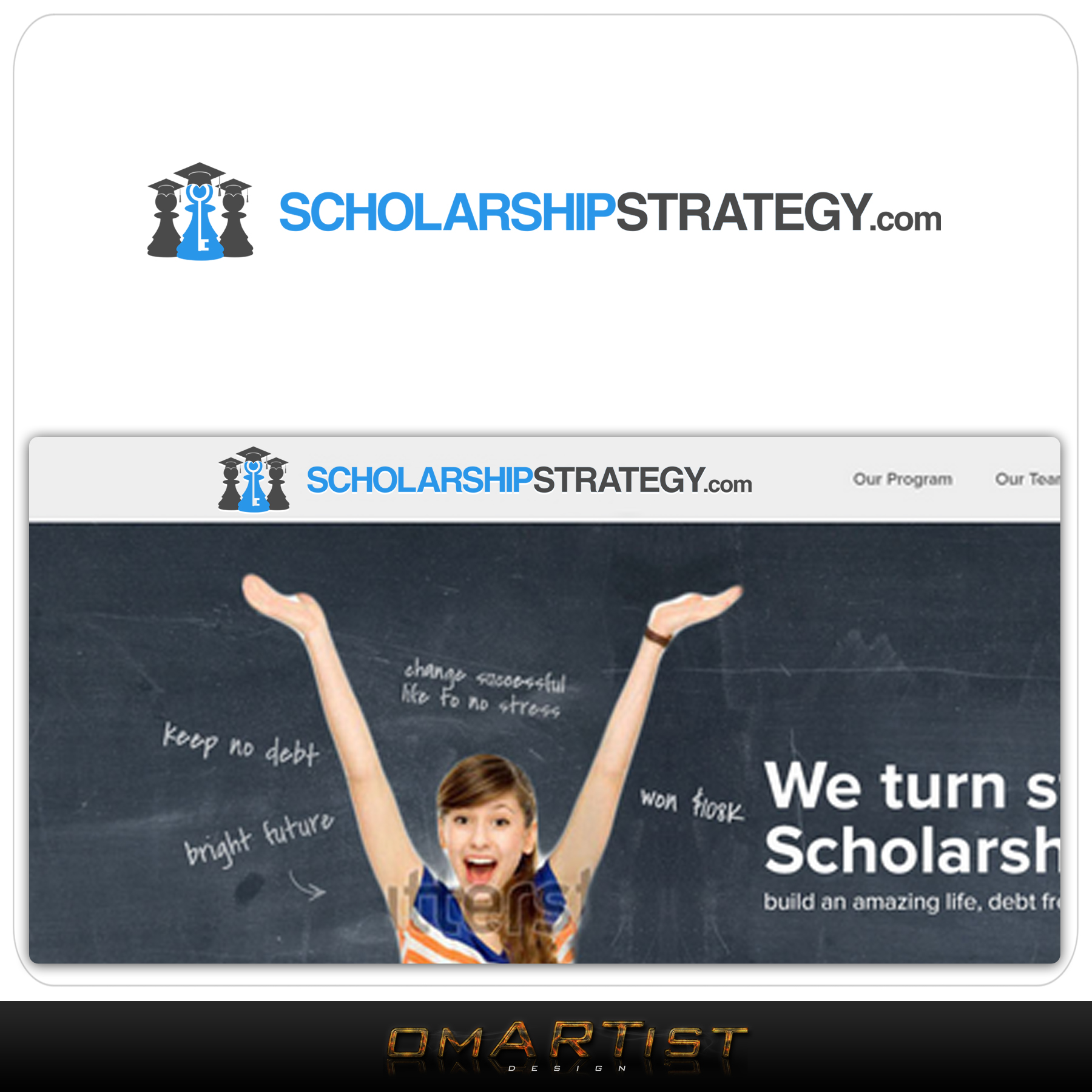 Logo Design by omARTist - Entry No. 190 in the Logo Design Contest Captivating Logo Design for Scholarshipstrategy.com.