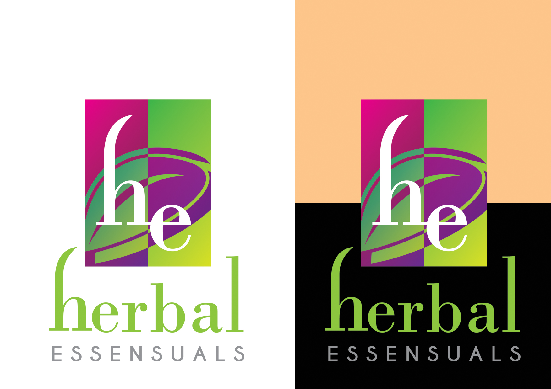 Logo Design by cochinseng - Entry No. 120 in the Logo Design Contest Captivating Logo Design for Herbal Essensuals.