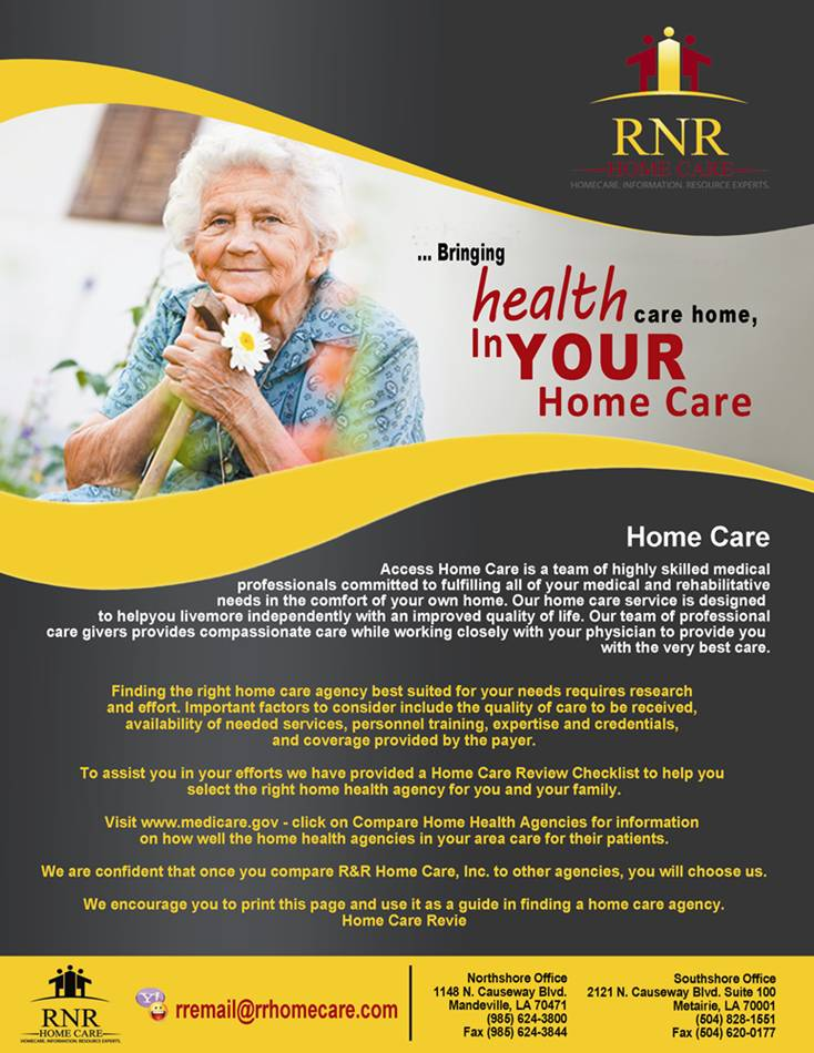 Print Design by Respati Himawan - Entry No. 5 in the Print Design Contest Captivating Print Design for RNR Homecare, Inc..
