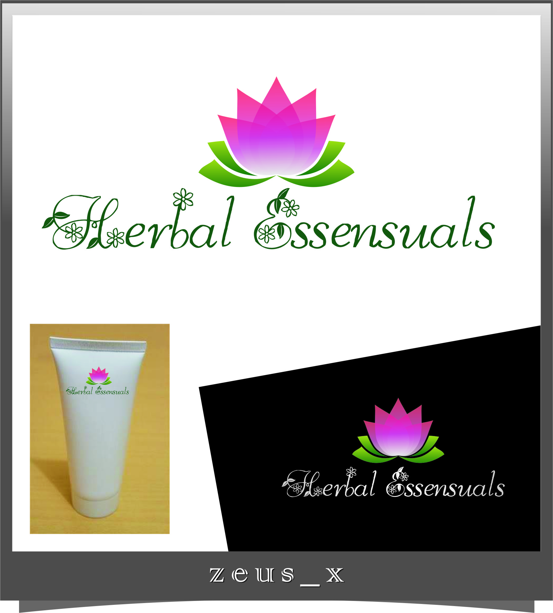 Logo Design by RoSyid Rono-Rene On Java - Entry No. 150 in the Logo Design Contest Captivating Logo Design for Herbal Essensuals.