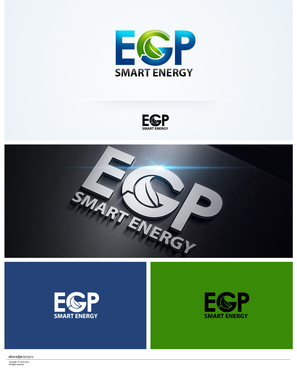 Logo Design by alocelja - Entry No. 58 in the Logo Design Contest Captivating Logo Design for EGP Smart Energy.