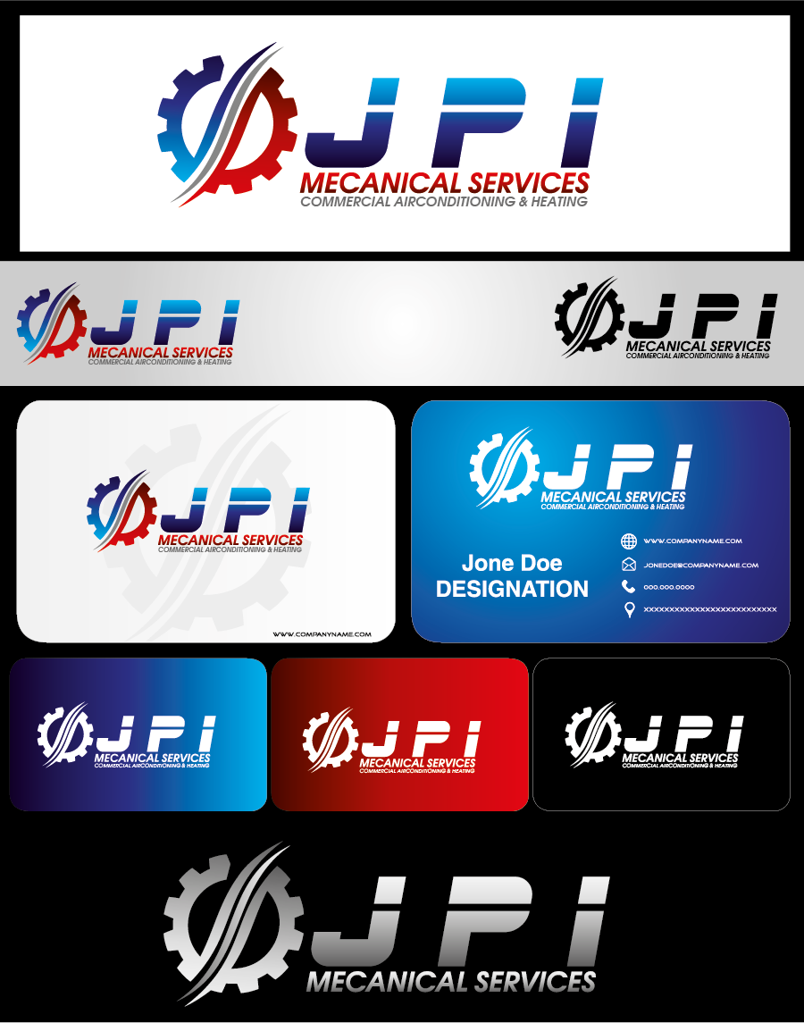 Logo Design by Digital Designs - Entry No. 94 in the Logo Design Contest Inspiring Logo Design for JPI Mecanical Services.