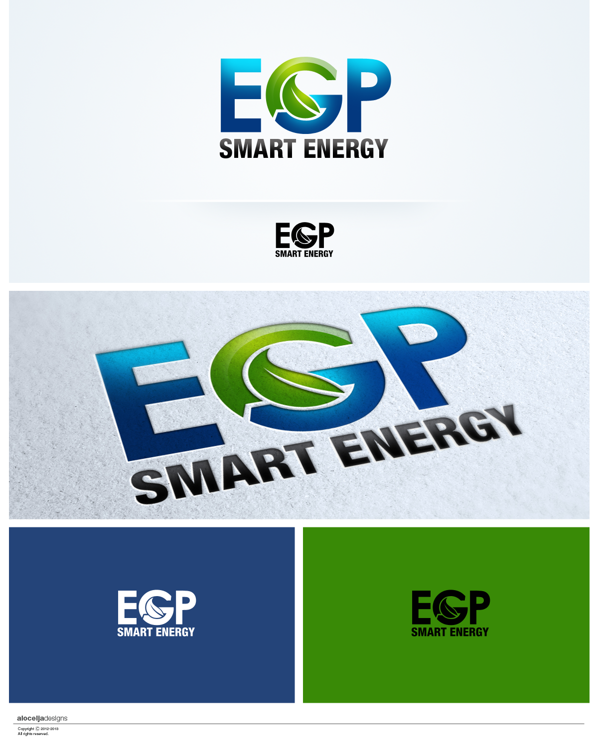 Logo Design by alocelja - Entry No. 96 in the Logo Design Contest Captivating Logo Design for EGP Smart Energy.