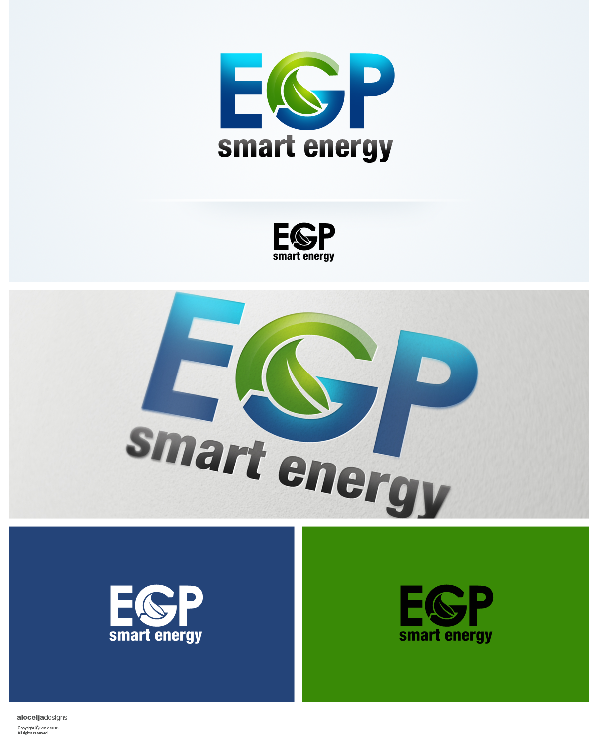 Logo Design by alocelja - Entry No. 97 in the Logo Design Contest Captivating Logo Design for EGP Smart Energy.
