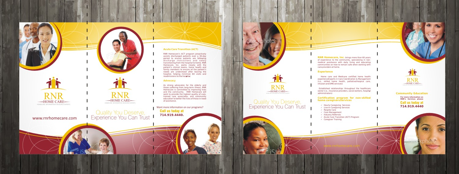 Print Design by Private User - Entry No. 17 in the Print Design Contest Captivating Print Design for RNR Homecare, Inc..