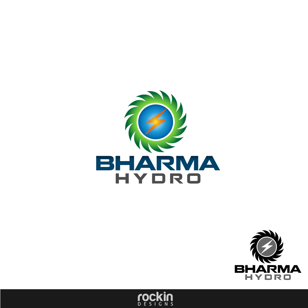 Logo Design by rockin - Entry No. 4 in the Logo Design Contest Creative Logo Design for Bharma Hydro.