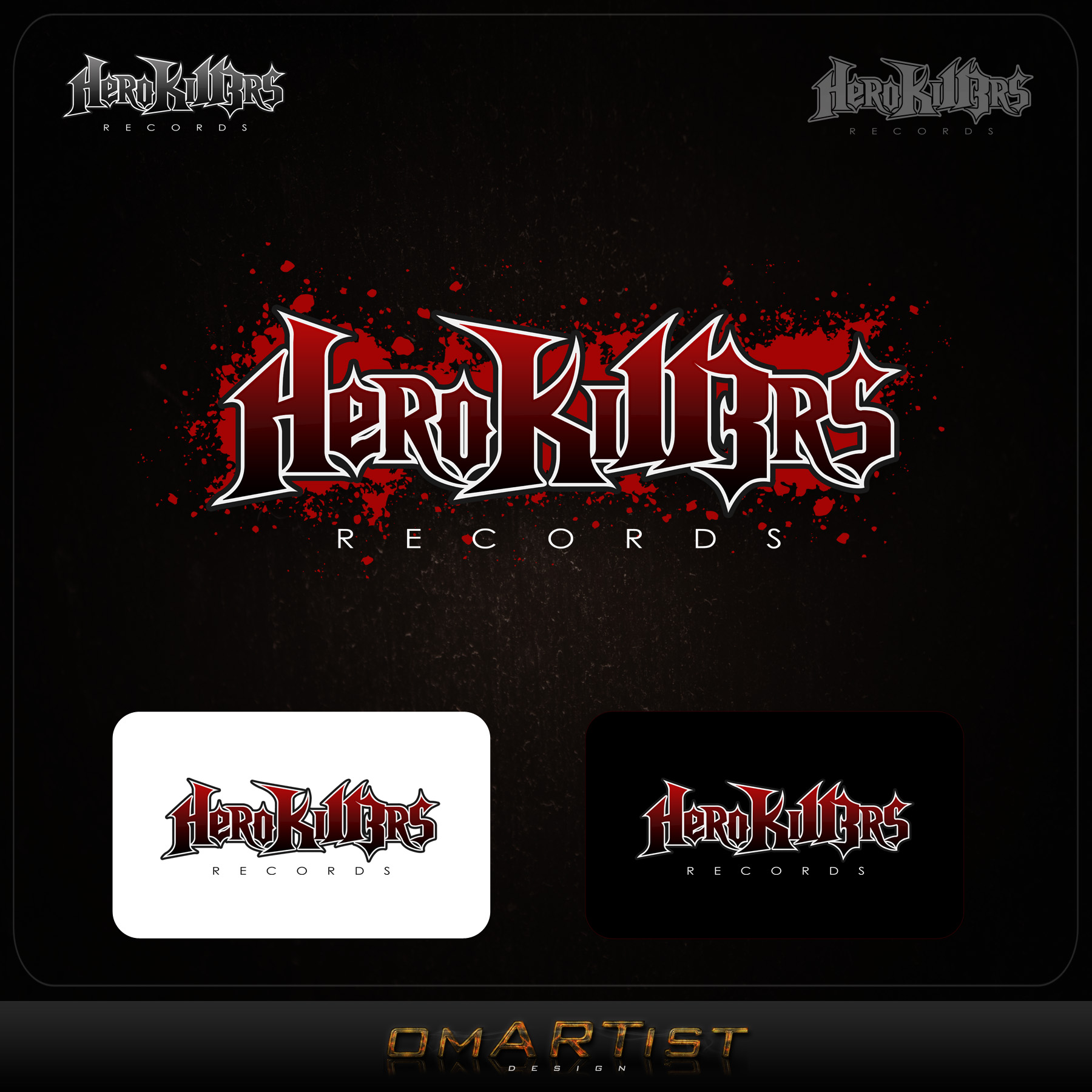 Logo Design by omARTist - Entry No. 42 in the Logo Design Contest Fun Logo Design for HeroKill3rs.