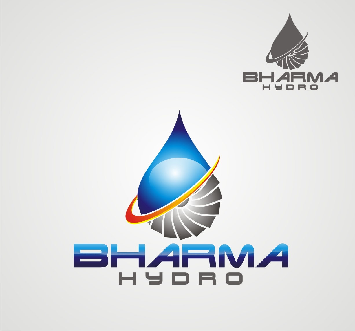 Logo Design by Reivan Ferdinan - Entry No. 8 in the Logo Design Contest Creative Logo Design for Bharma Hydro.