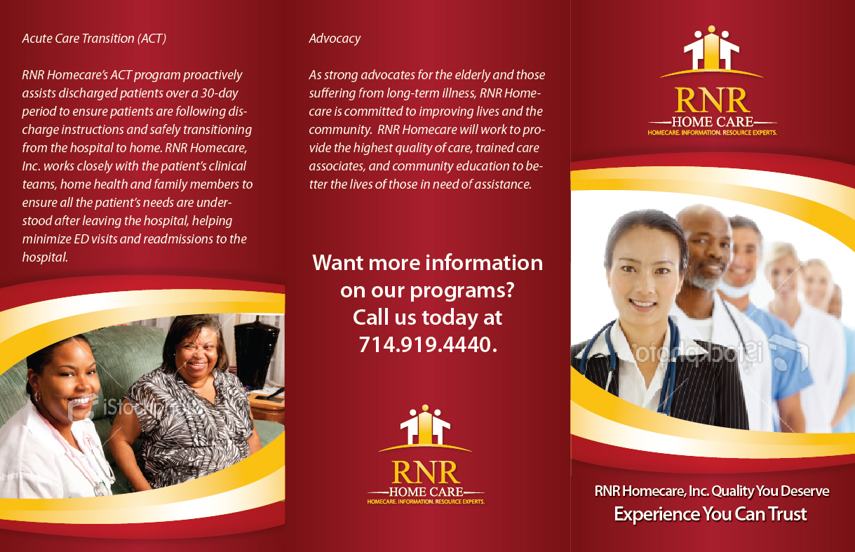 Print Design by Mare - Entry No. 24 in the Print Design Contest Captivating Print Design for RNR Homecare, Inc..