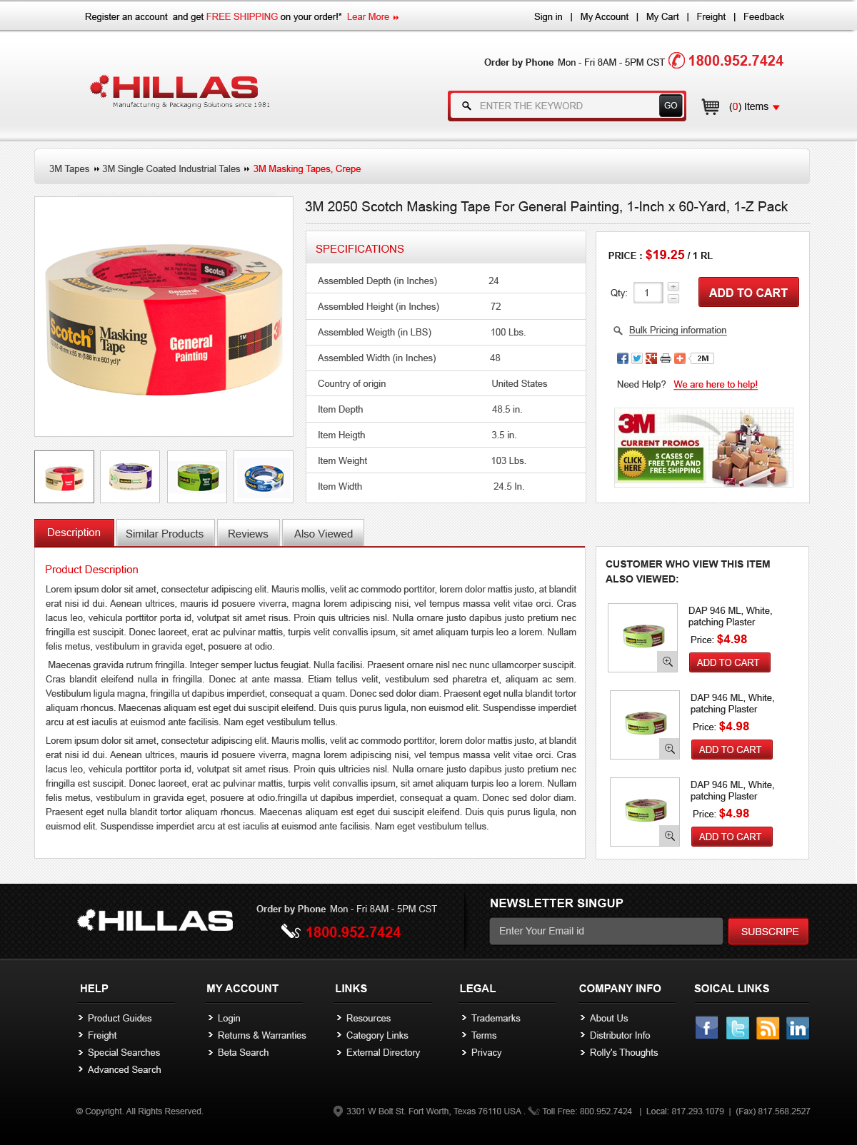 Web Page Design by Vishwa Km - Entry No. 4 in the Web Page Design Contest New Web Page Design for Industrial Distributor.