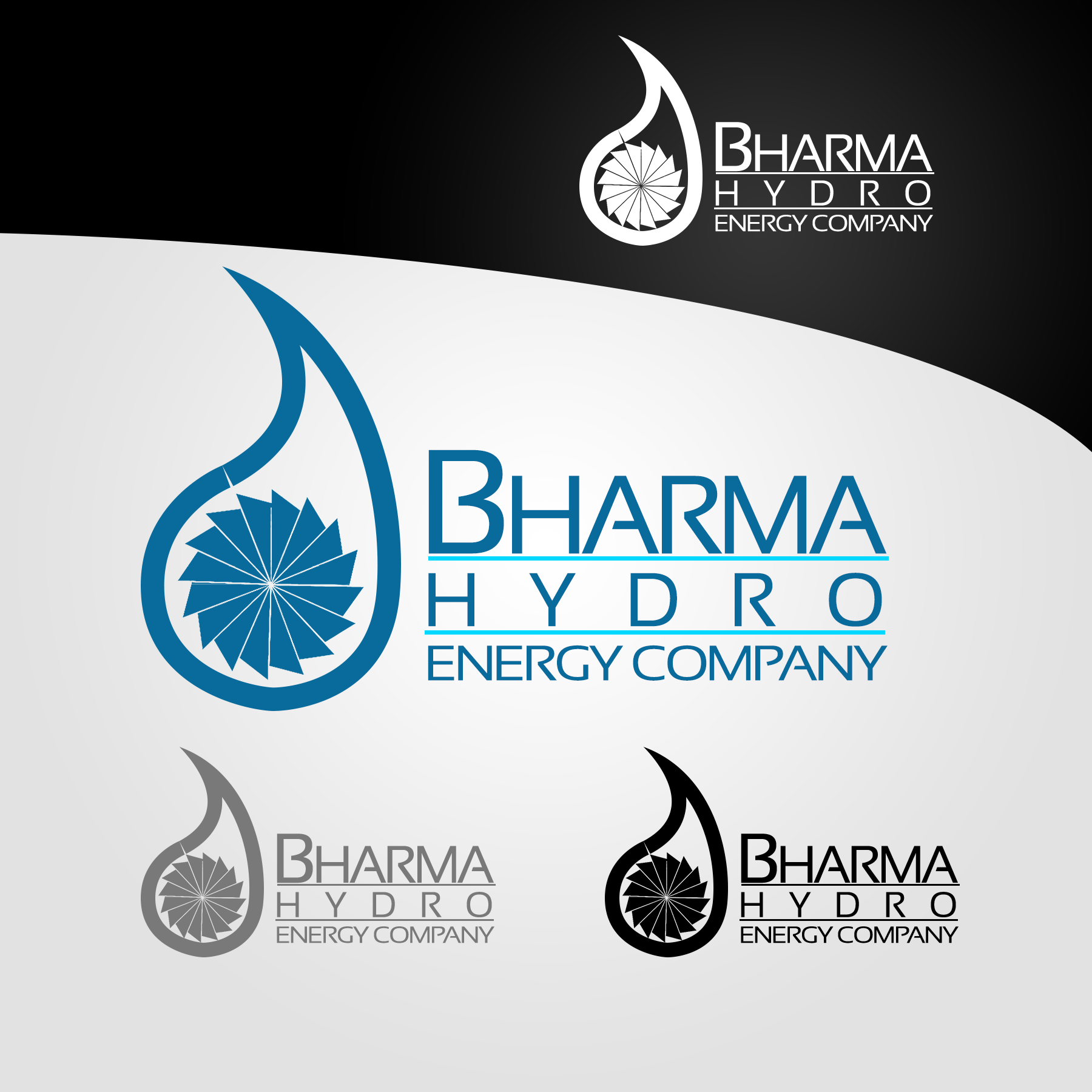 Logo Design by Lemuel Arvin Tanzo - Entry No. 20 in the Logo Design Contest Creative Logo Design for Bharma Hydro.