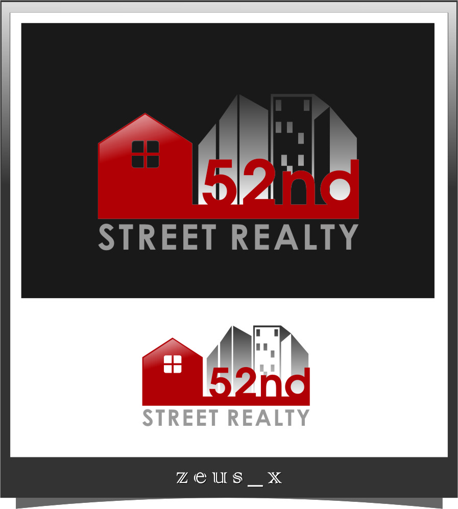 Logo Design by RasYa Muhammad Athaya - Entry No. 9 in the Logo Design Contest 52nd Street Realty Logo Design.