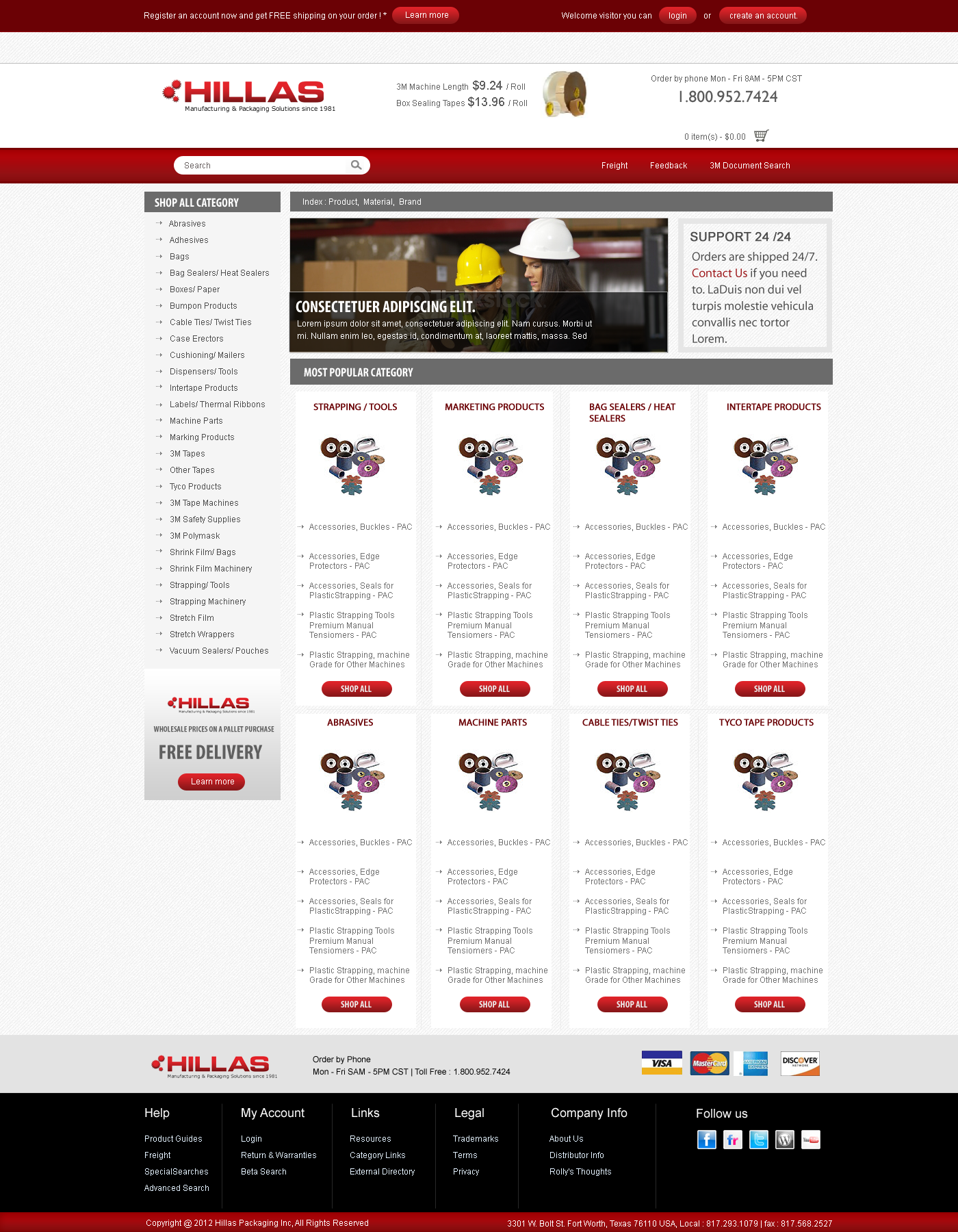 Web Page Design by Private User - Entry No. 12 in the Web Page Design Contest New Web Page Design for Industrial Distributor.