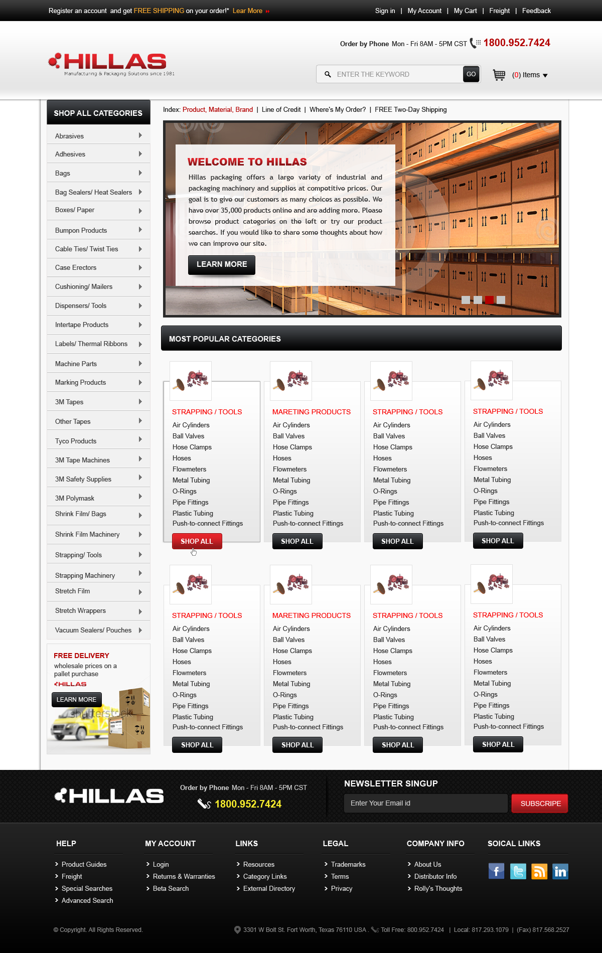 Web Page Design by Vishwa Km - Entry No. 13 in the Web Page Design Contest New Web Page Design for Industrial Distributor.