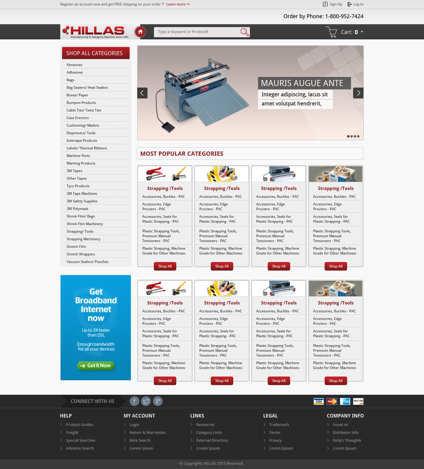 Web Page Design by mediaproductionart - Entry No. 17 in the Web Page Design Contest New Web Page Design for Industrial Distributor.