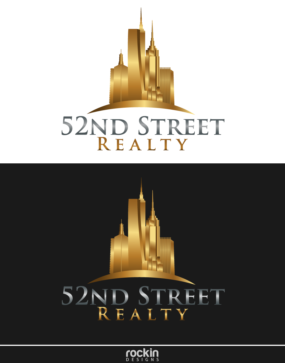 Logo Design by rockin - Entry No. 26 in the Logo Design Contest 52nd Street Realty Logo Design.