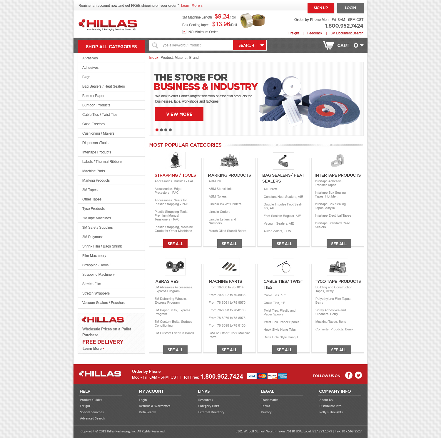 Web Page Design by designspixel - Entry No. 28 in the Web Page Design Contest New Web Page Design for Industrial Distributor.