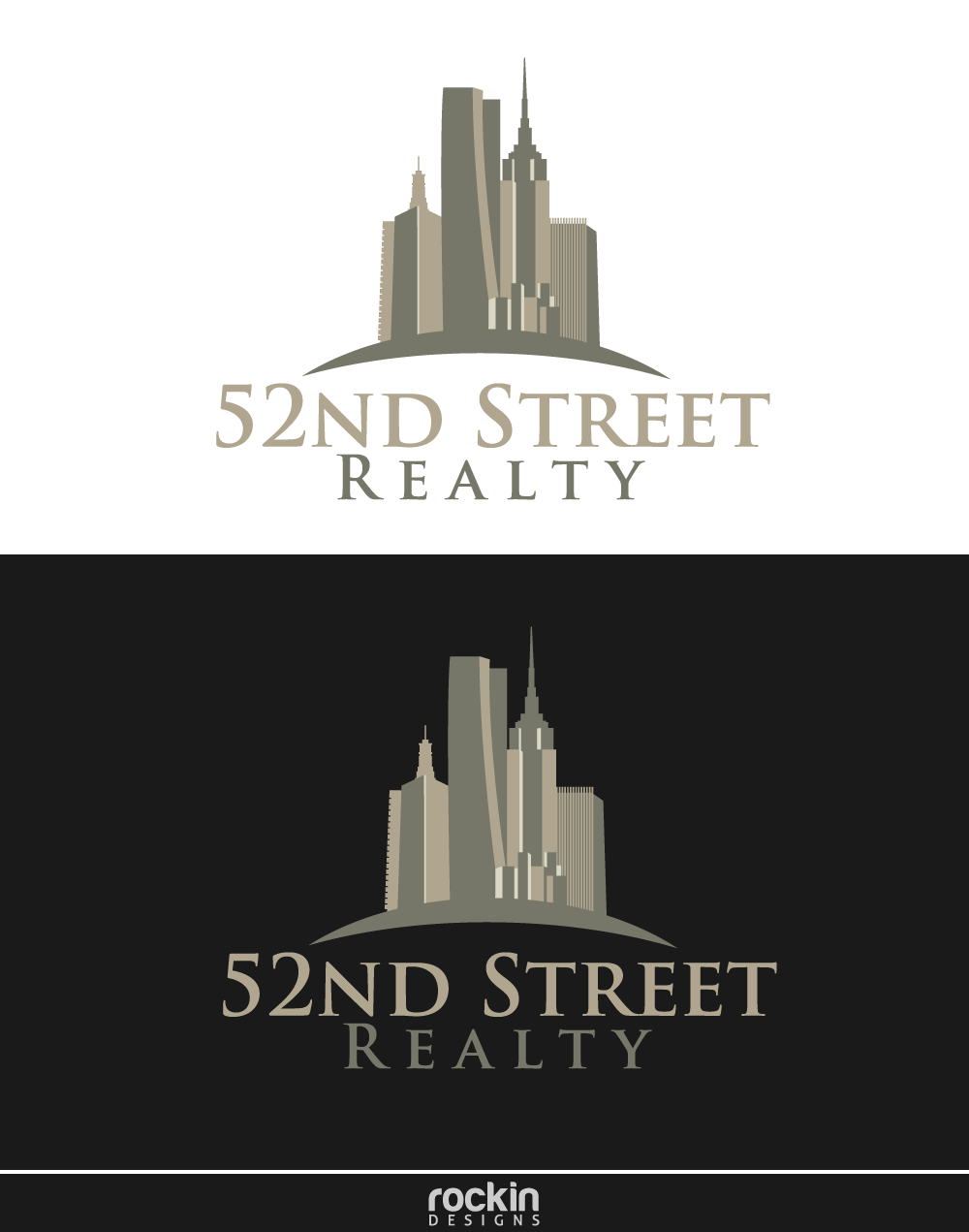Logo Design by rockin - Entry No. 29 in the Logo Design Contest 52nd Street Realty Logo Design.