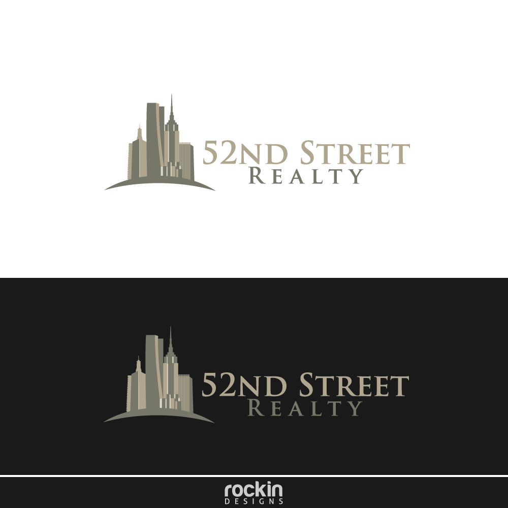 Logo Design by rockin - Entry No. 30 in the Logo Design Contest 52nd Street Realty Logo Design.