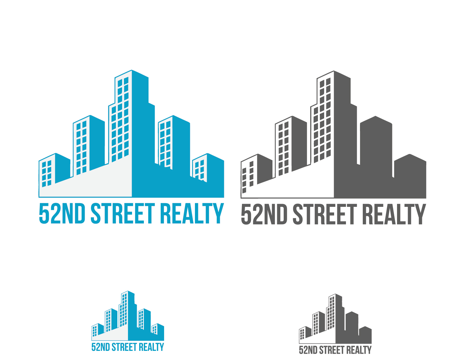 Logo Design by VENTSISLAV KOVACHEV - Entry No. 32 in the Logo Design Contest 52nd Street Realty Logo Design.