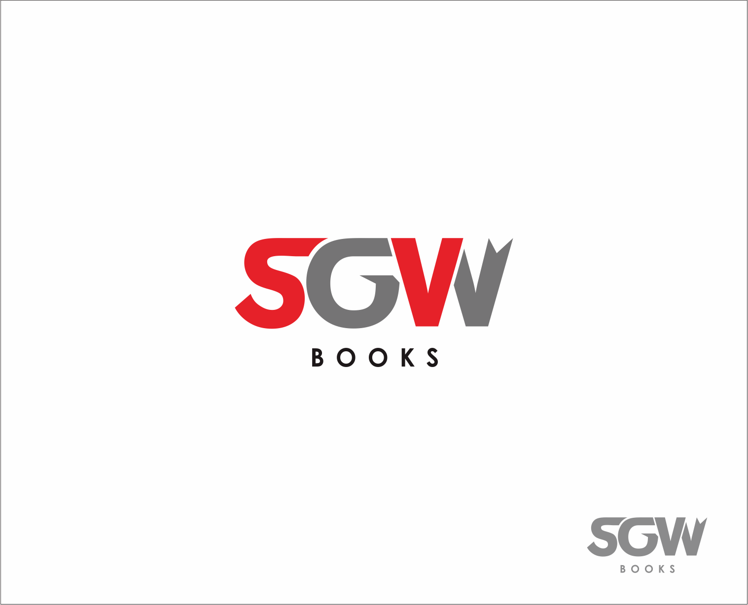 Logo Design by Armada Jamaluddin - Entry No. 52 in the Logo Design Contest SGW Books Logo Design.
