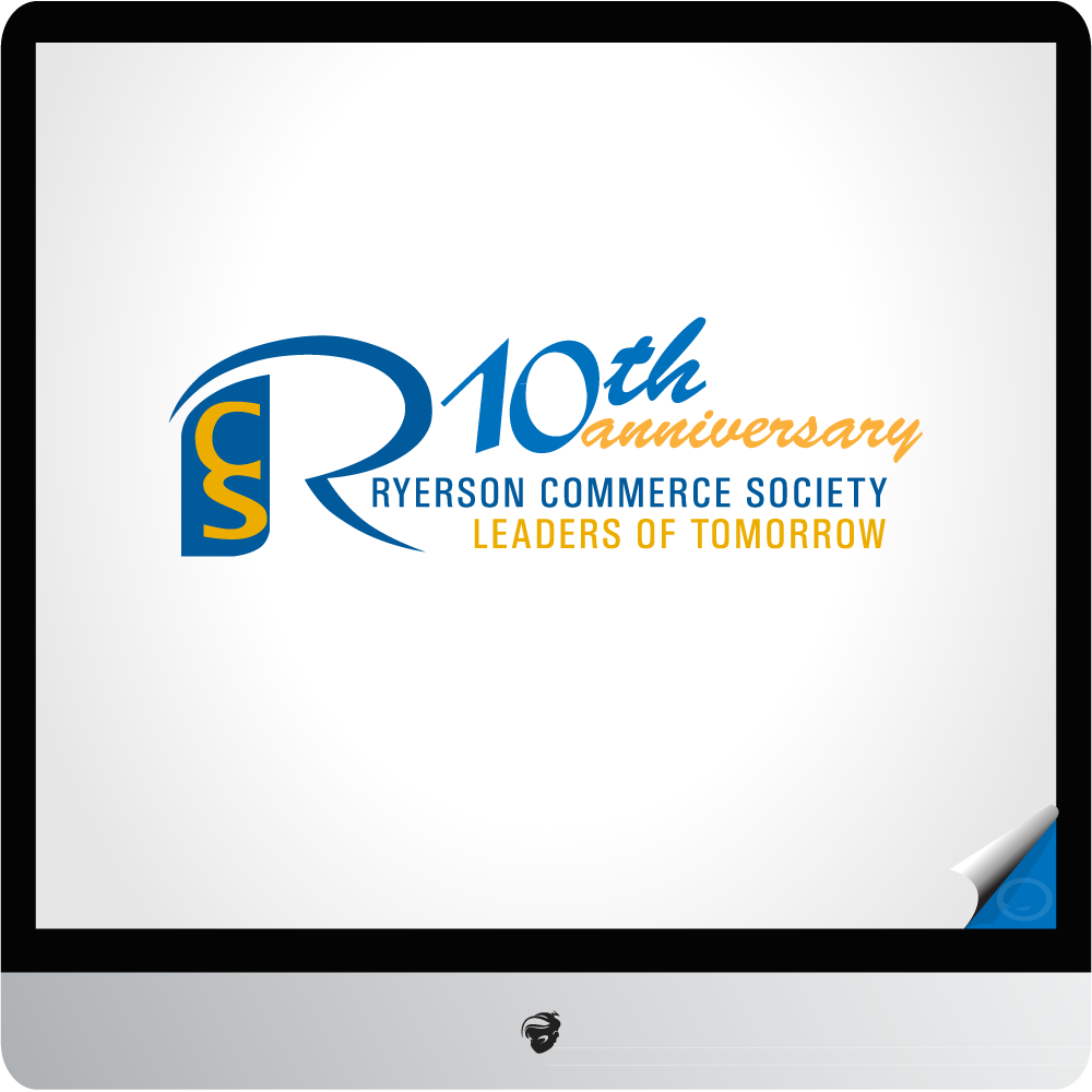 Logo Design by zesthar - Entry No. 3 in the Logo Design Contest 10 Year Anniversary Logo Design for the Ryerson Commerce Society.