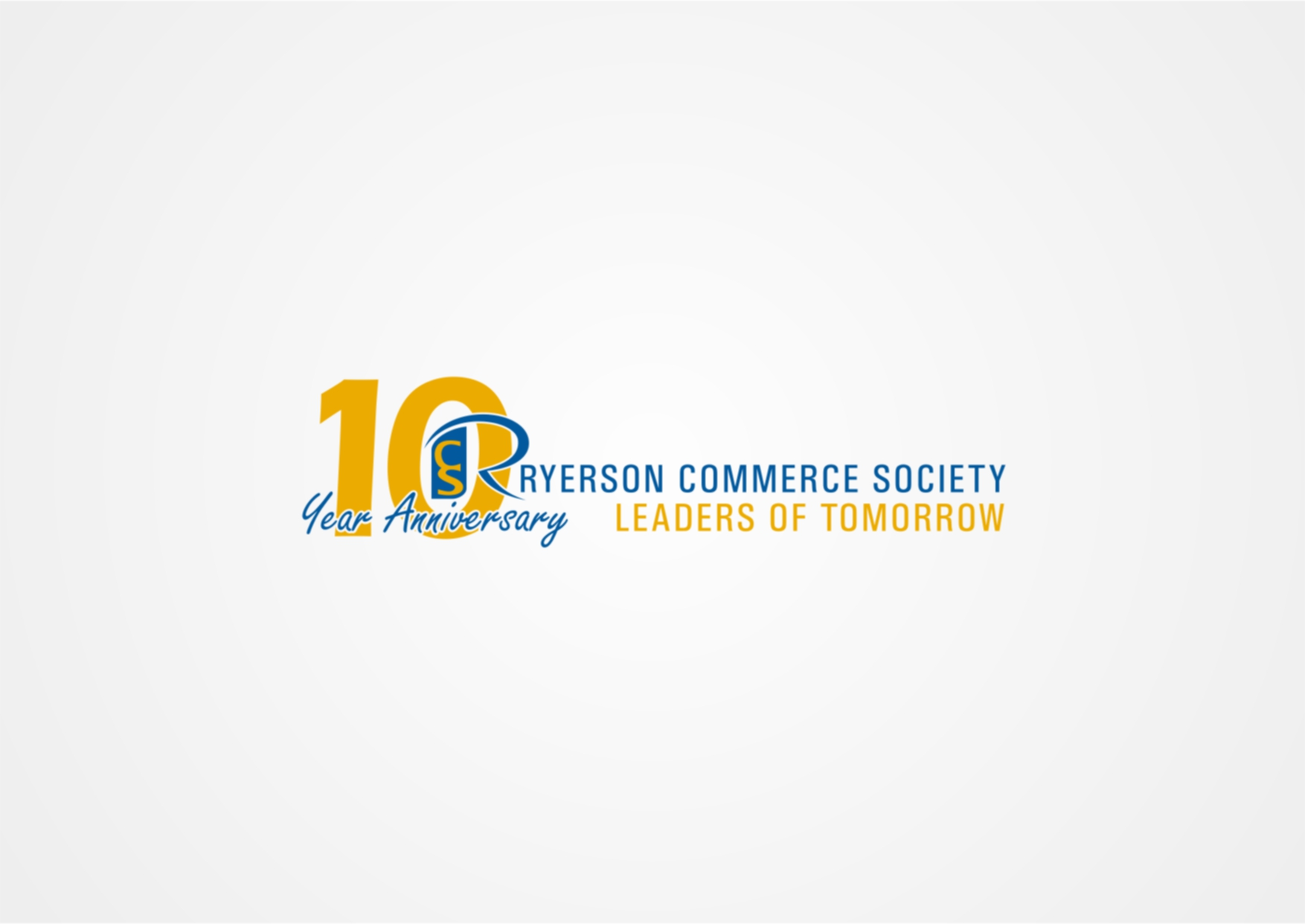 Logo Design by Private User - Entry No. 4 in the Logo Design Contest 10 Year Anniversary Logo Design for the Ryerson Commerce Society.
