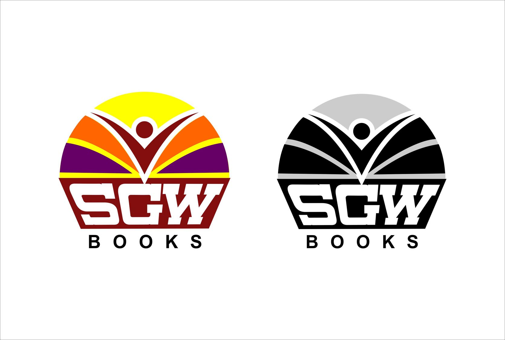 Logo Design by Niraj Dhimmar - Entry No. 67 in the Logo Design Contest SGW Books Logo Design.