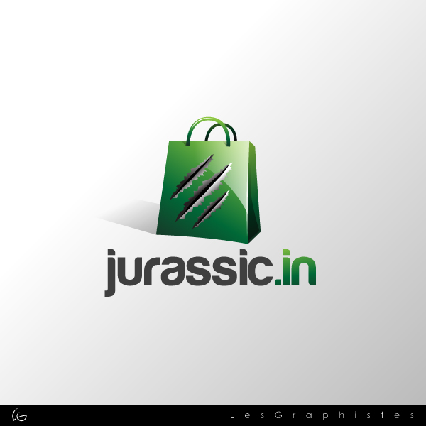 Logo Design by Les-Graphistes - Entry No. 12 in the Logo Design Contest Unique Logo Design Wanted for jurassic.in.