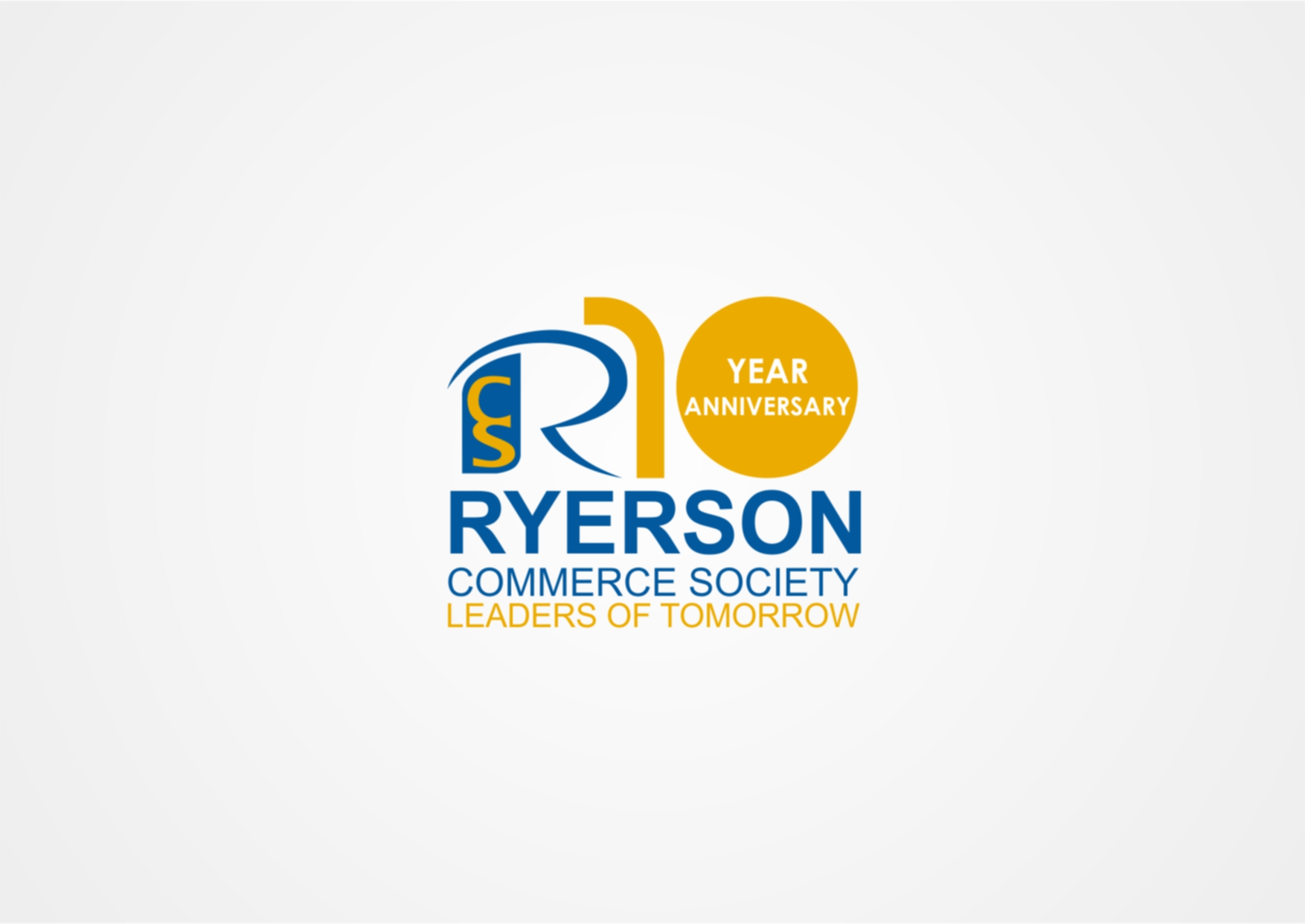 Logo Design by Private User - Entry No. 14 in the Logo Design Contest 10 Year Anniversary Logo Design for the Ryerson Commerce Society.