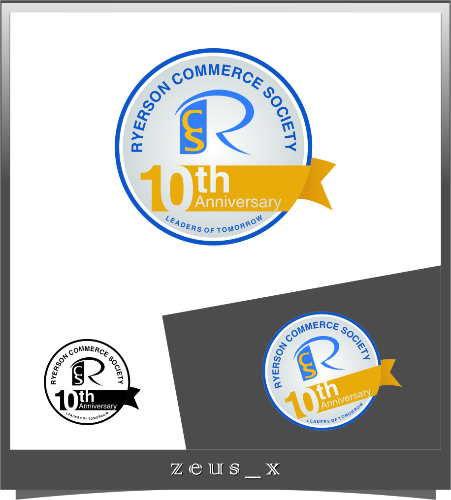 Logo Design by RasYa Muhammad Athaya - Entry No. 15 in the Logo Design Contest 10 Year Anniversary Logo Design for the Ryerson Commerce Society.
