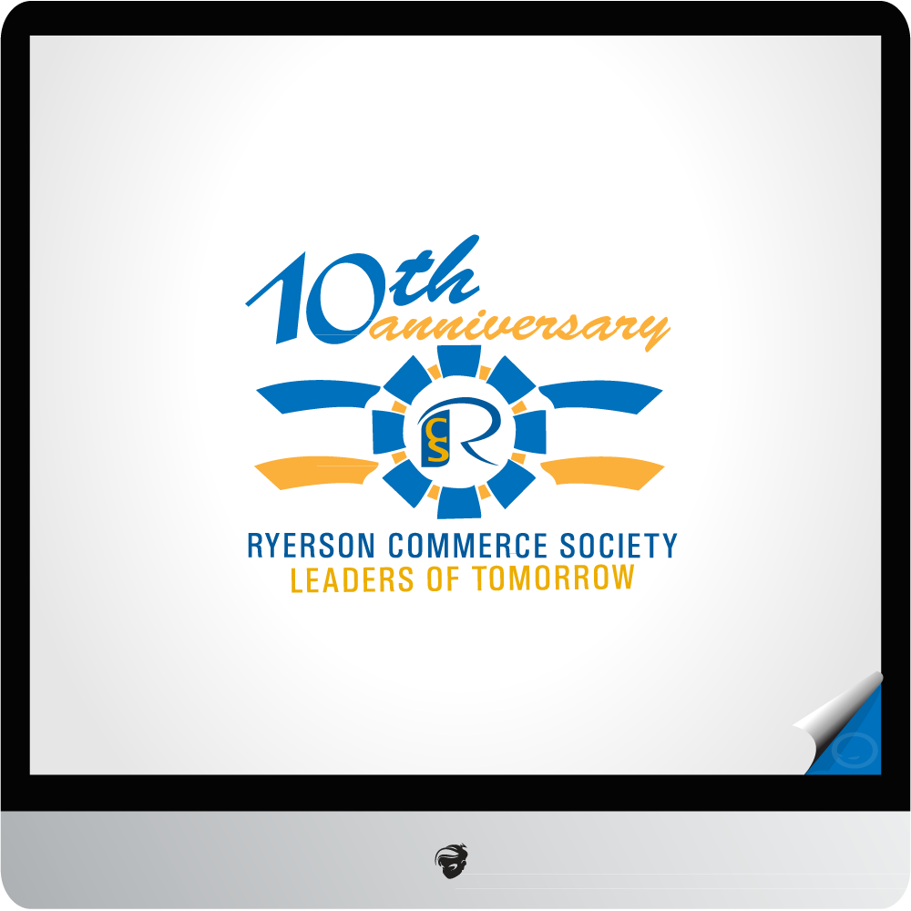 Logo Design by zesthar - Entry No. 16 in the Logo Design Contest 10 Year Anniversary Logo Design for the Ryerson Commerce Society.