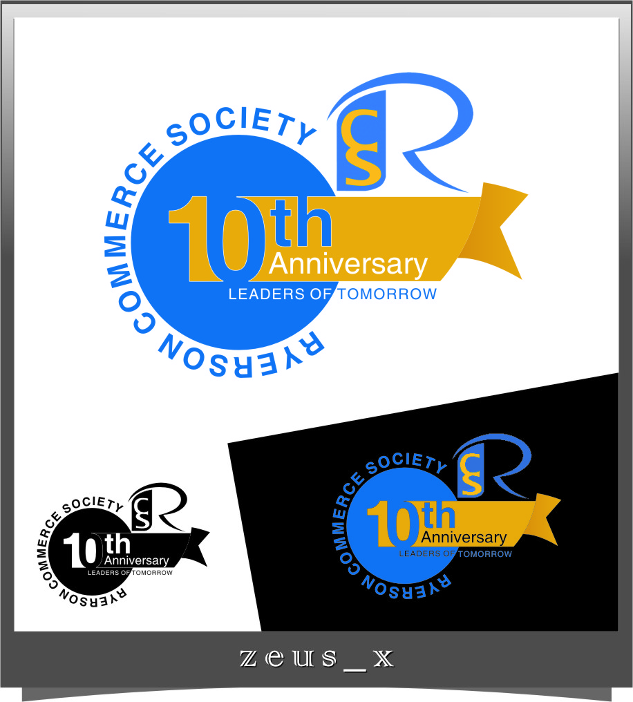 Logo Design by RasYa Muhammad Athaya - Entry No. 18 in the Logo Design Contest 10 Year Anniversary Logo Design for the Ryerson Commerce Society.