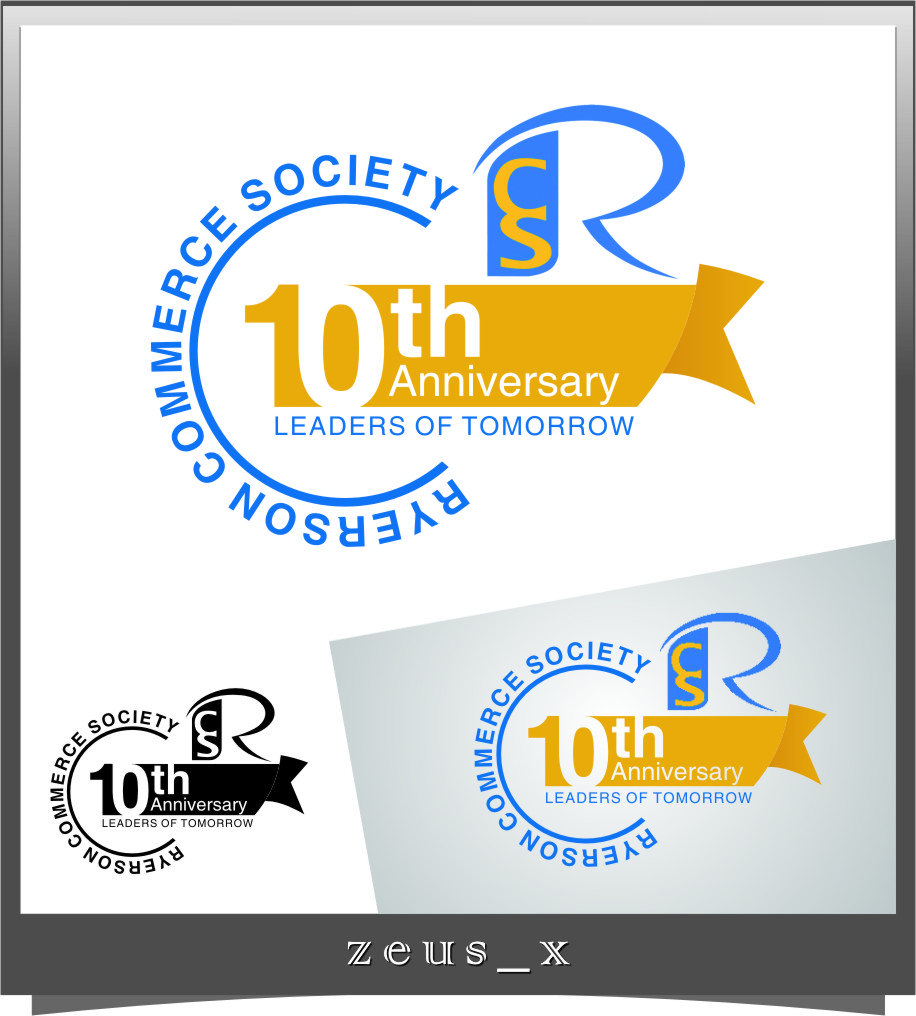 Logo Design by RasYa Muhammad Athaya - Entry No. 19 in the Logo Design Contest 10 Year Anniversary Logo Design for the Ryerson Commerce Society.